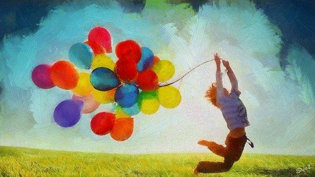 風船を持つ若者